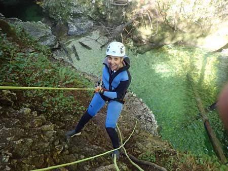 Bled Lake Slovenia Canyoning Activities Adventure Abseil in Gorge